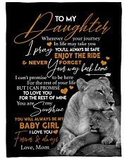 """MOM TO DAUGHTER GIFT- LION- I PRAY YOU'LL BE SAFE Large Fleece Blanket - 60"""" x 80"""" front"""