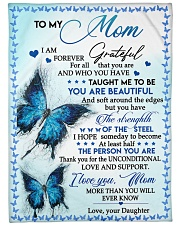 """DAUGHTER TO MOM GIFT YOU ARE BEAUTIFUL- GRATEFUL Large Fleece Blanket - 60"""" x 80"""" front"""