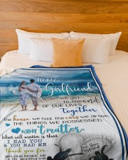 """GIRLFRIEND GIFT- I HAD YOU AND YOU HAD ME Large Fleece Blanket - 60"""" x 80"""" aos-coral-fleece-blanket-60x80-lifestyle-front-02a"""