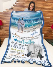 """GIRLFRIEND GIFT- I HAD YOU AND YOU HAD ME Large Fleece Blanket - 60"""" x 80"""" aos-coral-fleece-blanket-60x80-lifestyle-front-04a"""