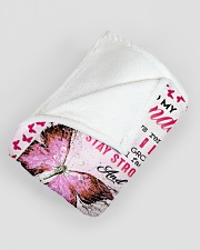 """GRANDMA TO GRANDDAUGHTER GIFT BUTTERFLY CONFIDENT Large Fleece Blanket - 60"""" x 80"""" aos-coral-fleece-blanket-60x80-lifestyle-front-07"""