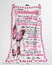 """GRANDMA TO GRANDDAUGHTER GIFT BUTTERFLY CONFIDENT Large Fleece Blanket - 60"""" x 80"""" aos-coral-fleece-blanket-60x80-lifestyle-front-10"""