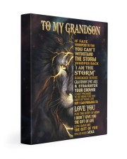 MEMA TO GRANDSON GIFT- FATE STORM CROWN -LION 11x14 Gallery Wrapped Canvas Prints front