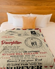 """DAD TO DAUGHTER GIFT- AIR MAIL- SAFE WELL HAPPY Large Fleece Blanket - 60"""" x 80"""" aos-coral-fleece-blanket-60x80-lifestyle-front-02a"""