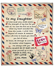 """MOM TO DAUGHTER GIFT STAMP SOUNDED FROM INSIDE Fleece Blanket - 50"""" x 60"""" front"""