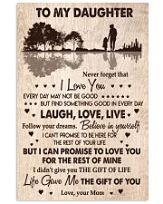 MOM TO DAUGHTER GIFT- GUITAR- THE GIFT OF LIFE YOU 11x17 Poster front