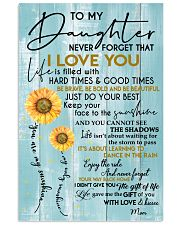 MOM TO DAUGHTER GIFT- SUNSHINE -SUNFLOWER- BRAVE 11x17 Poster front