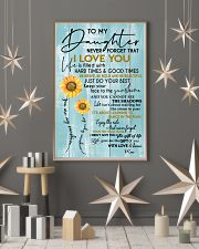 MOM TO DAUGHTER GIFT- SUNSHINE -SUNFLOWER- BRAVE 11x17 Poster lifestyle-holiday-poster-1