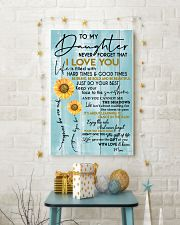 MOM TO DAUGHTER GIFT- SUNSHINE -SUNFLOWER- BRAVE 11x17 Poster lifestyle-holiday-poster-3