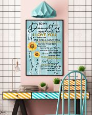 MOM TO DAUGHTER GIFT- SUNSHINE -SUNFLOWER- BRAVE 11x17 Poster lifestyle-poster-6