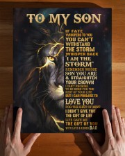DAD TO SON GIFT-STORM STRAIGHTEN CROWN -LION 11x14 Gallery Wrapped Canvas Prints aos-canvas-pgw-11x14-lifestyle-front-32