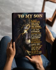 DAD TO SON GIFT-STORM STRAIGHTEN CROWN -LION 11x14 Gallery Wrapped Canvas Prints aos-canvas-pgw-11x14-lifestyle-front-49
