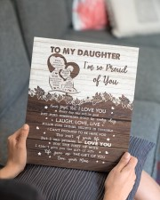MOM TO DAUGHTER GIFT PRECIOUS DAUGHTER -LIVE LOVE 11x14 Gallery Wrapped Canvas Prints aos-canvas-pgw-11x14-lifestyle-front-25