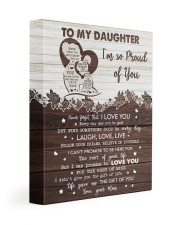 MOM TO DAUGHTER GIFT PRECIOUS DAUGHTER -LIVE LOVE 11x14 Gallery Wrapped Canvas Prints front