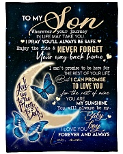 """MOM TO SON GIFT- BUTTERFLY- ENJOY THE RIDE- SAFE Large Fleece Blanket - 60"""" x 80"""" front"""