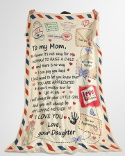 """DAUGHTER TO MOM GIFT- MY LOVING MOTHER LOVE LETTER Large Fleece Blanket - 60"""" x 80"""" aos-coral-fleece-blanket-60x80-lifestyle-front-10"""