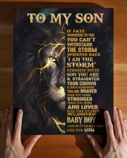MOM TO SON GIFT- STORM CROWN BRAVER -LION 11x14 Gallery Wrapped Canvas Prints aos-canvas-pgw-11x14-lifestyle-front-32