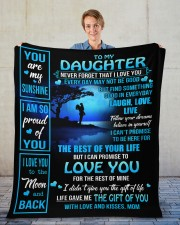 """MOM TO DAUGHTER GIFT OF YOU- LIVE LAUGH LOVE MOON Fleece Blanket - 50"""" x 60"""" aos-coral-fleece-blanket-50x60-lifestyle-front-01"""