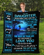 """MOM TO DAUGHTER GIFT OF YOU- LIVE LAUGH LOVE MOON Fleece Blanket - 50"""" x 60"""" aos-coral-fleece-blanket-50x60-lifestyle-front-01a"""