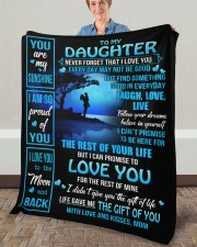"""MOM TO DAUGHTER GIFT OF YOU- LIVE LAUGH LOVE MOON Fleece Blanket - 50"""" x 60"""" aos-coral-fleece-blanket-50x60-lifestyle-front-02a"""