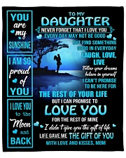 """MOM TO DAUGHTER GIFT OF YOU- LIVE LAUGH LOVE MOON Fleece Blanket - 50"""" x 60"""" front"""