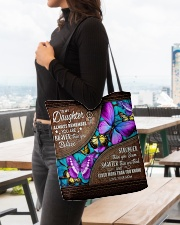 MOM TO DAUGHTER GIFT- BUTTERFLY- BRAVER STRONGER All-over Tote aos-all-over-tote-lifestyle-front-04