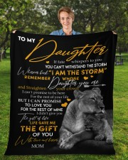 """MOM TO DAUGHTER GIFT LION FATE THE STORM CROWN Fleece Blanket - 50"""" x 60"""" aos-coral-fleece-blanket-50x60-lifestyle-front-01a"""