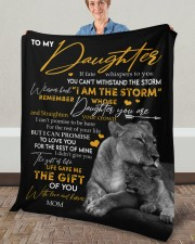"""MOM TO DAUGHTER GIFT LION FATE THE STORM CROWN Fleece Blanket - 50"""" x 60"""" aos-coral-fleece-blanket-50x60-lifestyle-front-02a"""