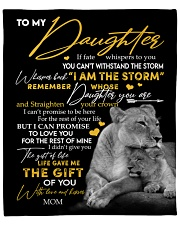 """MOM TO DAUGHTER GIFT LION FATE THE STORM CROWN Fleece Blanket - 50"""" x 60"""" front"""