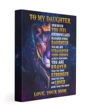 MOM TO DAUGHTER GIFT- LION- BRAVER STRONGER LOVED 11x14 Gallery Wrapped Canvas Prints front