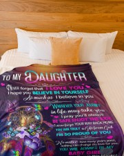 """MOM TO DAUGHTER GIFT- DREAMCATCHER GIFT FROM GOD Large Fleece Blanket - 60"""" x 80"""" aos-coral-fleece-blanket-60x80-lifestyle-front-02a"""