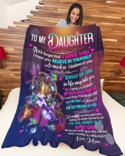 """MOM TO DAUGHTER GIFT- DREAMCATCHER GIFT FROM GOD Large Fleece Blanket - 60"""" x 80"""" aos-coral-fleece-blanket-60x80-lifestyle-front-04a"""