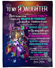 """MOM TO DAUGHTER GIFT- DREAMCATCHER GIFT FROM GOD Large Fleece Blanket - 60"""" x 80"""" front"""