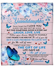 "GRANDMA TO GRANDDAUGHTER GIFT BUTTERFLY LAUGH LOVE Fleece Blanket - 50"" x 60"" front"