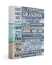 GRANDPA TO GRANDSON GIFT- LAUGH LOVE LIVE -WOOD 11x14 Gallery Wrapped Canvas Prints front
