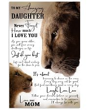 MOM TO DAUGHTER GIFT- JUST DO YOUR BEST- LION 11x17 Poster front