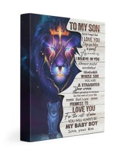 MOM TO SON GIFT- BELIEVE STRAIGHTEN CROWN -LION 11x14 Gallery Wrapped Canvas Prints front