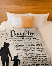 """MOM TO DAUGHTER GIFT LOVE YOU FOR THE REST OF MINE Large Fleece Blanket - 60"""" x 80"""" aos-coral-fleece-blanket-60x80-lifestyle-front-02a"""