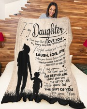 """MOM TO DAUGHTER GIFT LOVE YOU FOR THE REST OF MINE Large Fleece Blanket - 60"""" x 80"""" aos-coral-fleece-blanket-60x80-lifestyle-front-04a"""