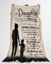 """MOM TO DAUGHTER GIFT LOVE YOU FOR THE REST OF MINE Large Fleece Blanket - 60"""" x 80"""" aos-coral-fleece-blanket-60x80-lifestyle-front-10"""