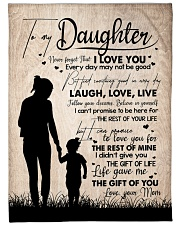 """MOM TO DAUGHTER GIFT LOVE YOU FOR THE REST OF MINE Large Fleece Blanket - 60"""" x 80"""" front"""