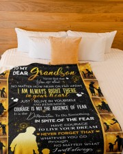 """GRANDMA TO GRANDDAUGHTER GIFT COURAGE BELIEVE Large Fleece Blanket - 60"""" x 80"""" aos-coral-fleece-blanket-60x80-lifestyle-front-02a"""