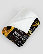"GRANDMA TO GRANDDAUGHTER GIFT COURAGE BELIEVE Large Fleece Blanket - 60"" x 80"" aos-coral-fleece-blanket-60x80-lifestyle-front-07"