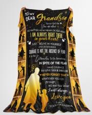 "GRANDMA TO GRANDDAUGHTER GIFT COURAGE BELIEVE Large Fleece Blanket - 60"" x 80"" aos-coral-fleece-blanket-60x80-lifestyle-front-10"