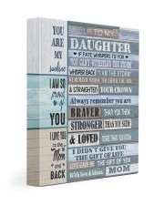 MOM TO DAUGHTER GIFT- BRAVER STRONGER LOVED -WOOD 11x14 Gallery Wrapped Canvas Prints front