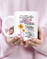MOM TO DAUGHTER GIFT DANCE IN THE RAIN- ENJOY RIDE Mug ceramic-mug-lifestyle-29