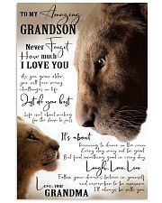 GRANDMA TO GRANDSON GIFT- JUST DO YOUR BEST- LION 11x17 Poster front