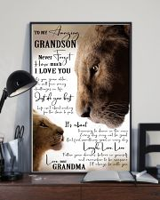 GRANDMA TO GRANDSON GIFT- JUST DO YOUR BEST- LION 11x17 Poster lifestyle-poster-2