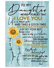 DAD TO DAUGHTER GIFT - SUNSHINE SUNFLOWER BRAVE 11x17 Poster front