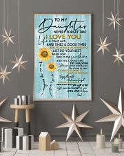 DAD TO DAUGHTER GIFT - SUNSHINE SUNFLOWER BRAVE 11x17 Poster lifestyle-holiday-poster-1